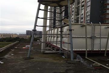 成都华阳恺信置业36立方玻璃钢消防热博登录工程现场